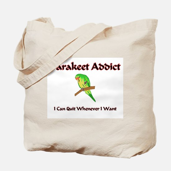 Parakeet Addict Tote Bag