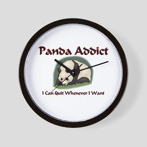 Panda Addict Wall Clock