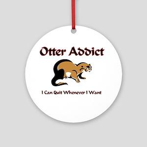 Otter Addict Ornament (Round)