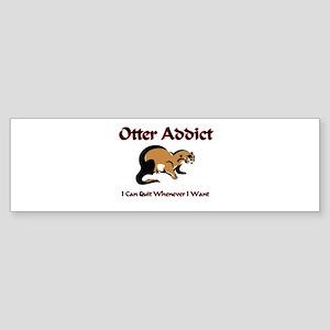 Otter Addict Bumper Sticker