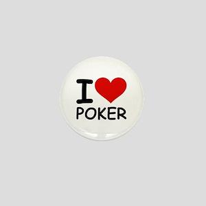 I LOVE POKER Mini Button