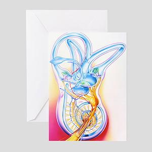 Inner ear Greeting Cards