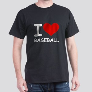 I LOVE BASEBALL Dark T-Shirt