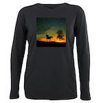 AFTM Old Black Stallion At Sunrise Plus Size Long