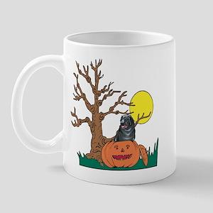 Halloween Pumpkin Newfie Mug