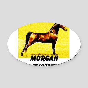 AFTM Morgan Horse Oval Car Magnet