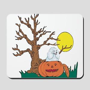 Halloween Pumpkin Poodle Mousepad