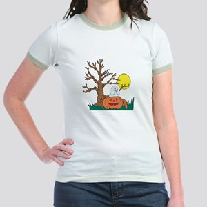 Halloween Pumpkin Poodle Jr. Ringer T-Shirt
