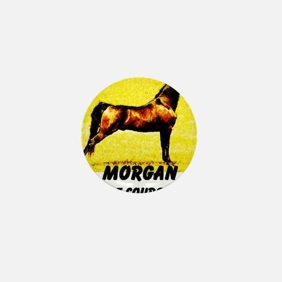 AFTM Morgan Horse Mini Button