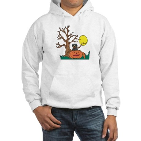 Pumpkin Rottweiler Hooded Sweatshirt