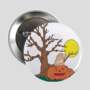 """Halloween Pumpkin SharPei 2.25"""" Button"""