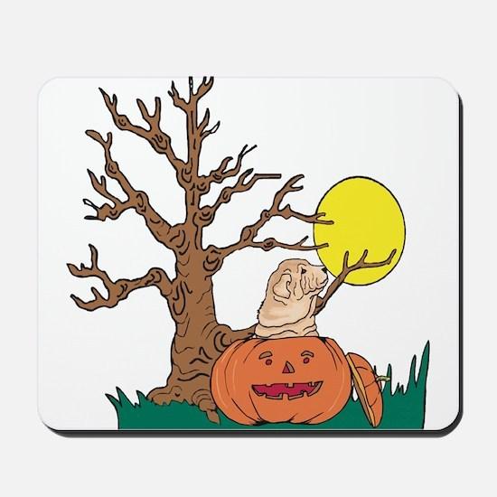 Halloween Pumpkin SharPei Mousepad