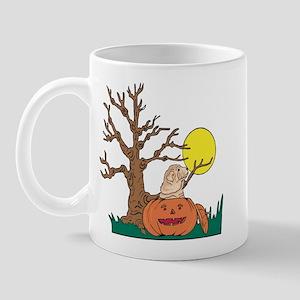 Halloween Pumpkin SharPei Mug