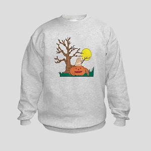 Halloween Pumpkin SharPei Kids Sweatshirt