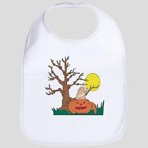 Halloween Pumpkin SharPei Bib