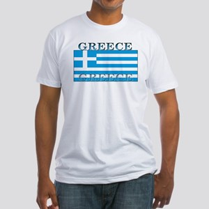 Greece Greek Flag Fitted T-Shirt