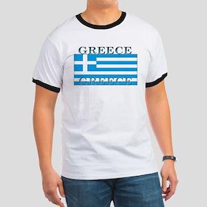 Greece Greek Flag Ringer T