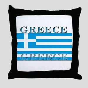 Greece Greek Flag Throw Pillow