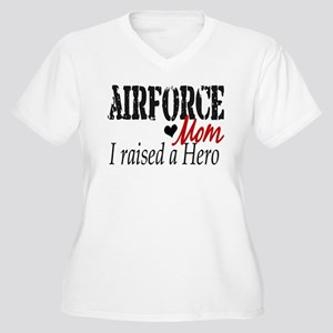 Airforce Raised Hero Women's Plus Size V-Neck T-Sh
