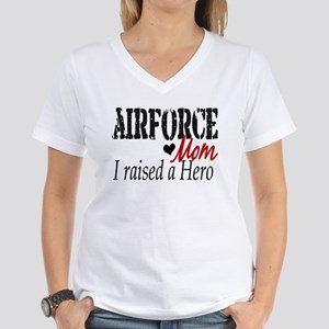 Airforce Raised Hero Women's V-Neck T-Shirt