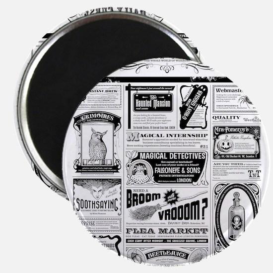Creepy Newspaper Magnets