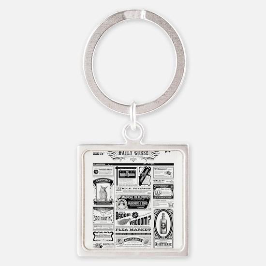 Creepy Newspaper Keychains