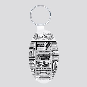 Creepy Newspaper Keychains