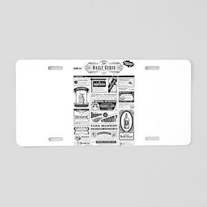 Creepy Newspaper Aluminum License Plate