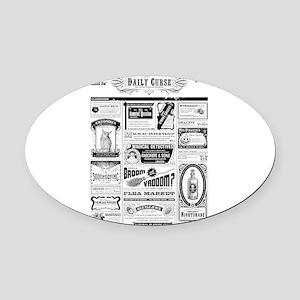 Creepy Newspaper Oval Car Magnet