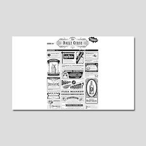 Creepy Newspaper Car Magnet 20 x 12