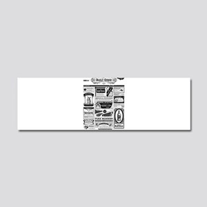 Creepy Newspaper Car Magnet 10 x 3