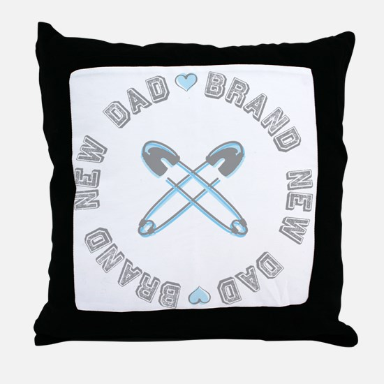 Brand New Dad Boy Throw Pillow