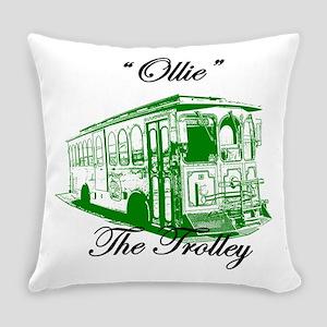 AFTMOllieTheTrolleySideGreen Everyday Pillow