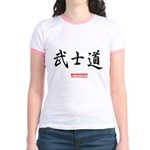 Japanese Bushido Kanji (Front) Jr. Ringer T-Shirt