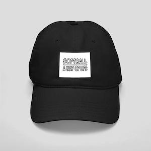 """Softball: A Way of Life"" Black Cap"