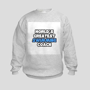 """Greatest Swimming Coach"" Kids Sweatshirt"