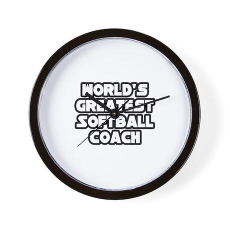 """Greatest Softball Coach"" Wall Clock"