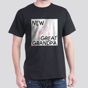 New Great Grandpa (pink) Ash Grey T-Shirt