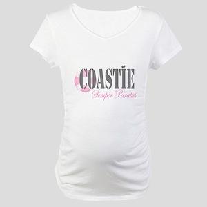 Coastie Semper Pa Maternity T-Shirt