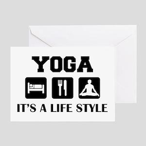 Yoga Life Style Greeting Card