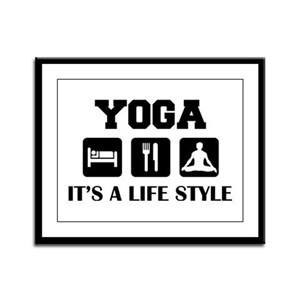 Yoga Life Style Framed Panel Print