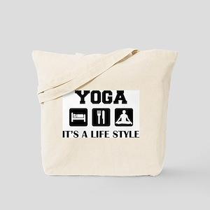 Yoga Life Style Tote Bag