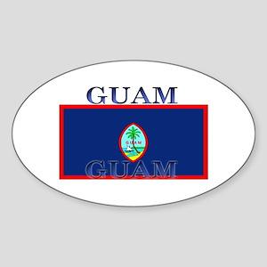 Guam Guaminian Flag Oval Sticker