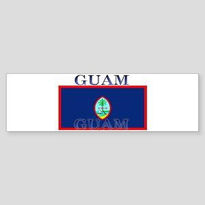 Guam Guaminian Flag Bumper Sticker