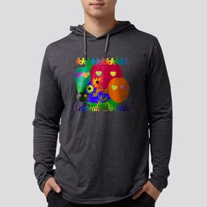 Celebrate Diversity Mens Hooded Shirt