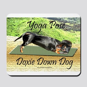 Yoga Down Dog Dachshund Mousepad