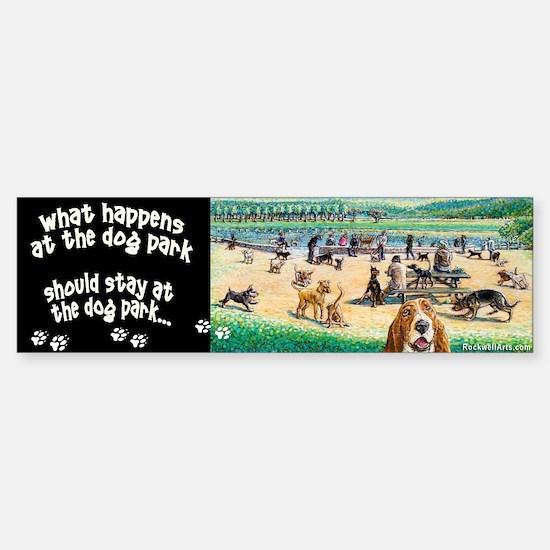 A Day at the Dog Park Bumper Bumper Bumper Sticker