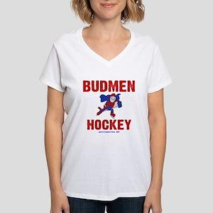 Budmen Hockey Women's V-Neck T-Shirt