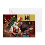 Santa's Dobie (Bz) Greeting Card
