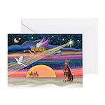 XmasStar/Dobie (rd) Greeting Card
